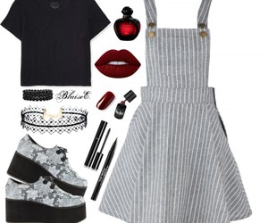 black, Polyvore, and creeper image