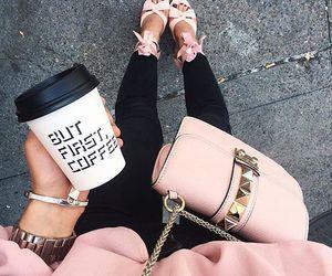 fashion, pink, and coffee image