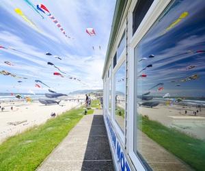 beach, fun, and kite image