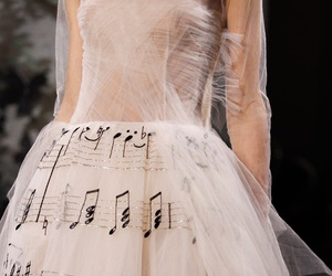 dress, music, and Valentino image