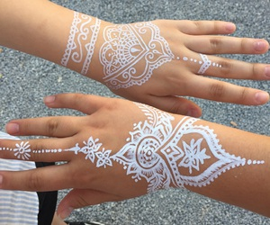 hands, henna, and white image