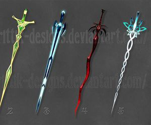 fantasy, sword, and weapon image