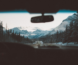 car, driving, and mountains image