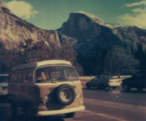 hippie, van, and mountain image