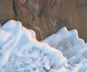 beach, feet, and guy image