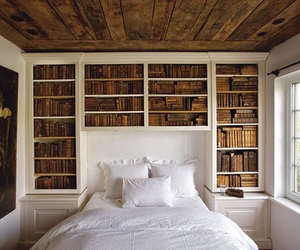 bed, pillow, and wood image