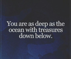 deep, ocean, and quote image