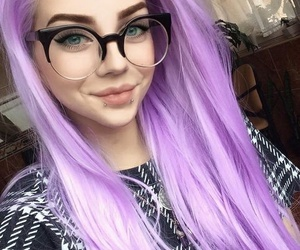 beautiful, original, and purple hair image
