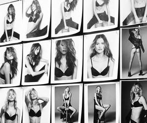 model, Behati Prinsloo, and black and white image