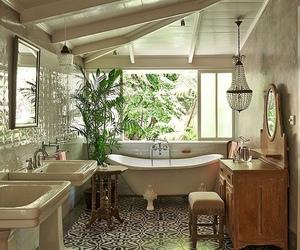 bath, bathroom, and boho image