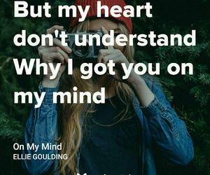 Lyrics, music, and on my mind image