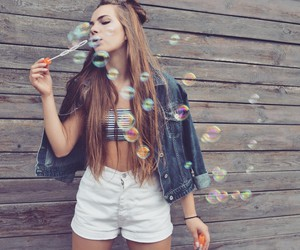 girl, long hair, and pretty image