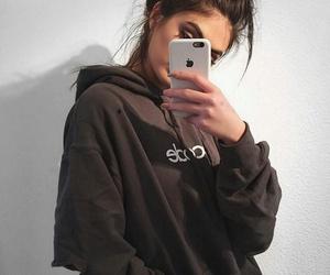 girl, tumblr, and iphone image