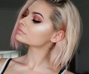 blond hair, eyebrows, and glitter image