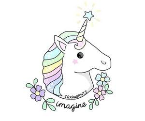 unicorn, imagine, and wallpaper image