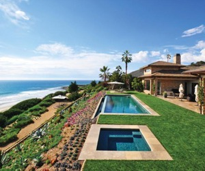 beach, pool, and house image