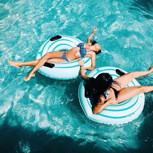 beach, bikini, and place image