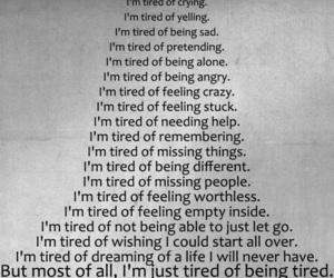 depressed, sad, and tired image