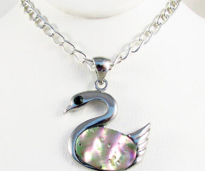 etsy, gift under 25, and swan jewelry image