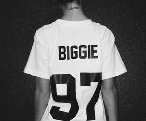 biggie, black and white, and biggie smalls image