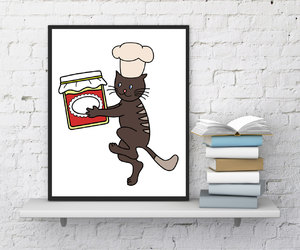 cats, cat stickers, and etsy image