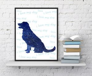 dog, pet, and home wall decor image