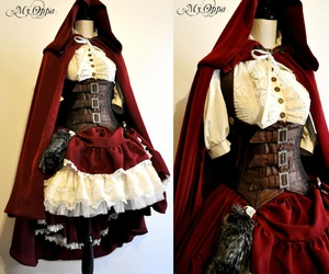 steampunk, costume, and little red riding hood image