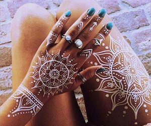 henna, tattoo, and white image