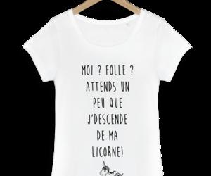 t-shirt and licorne image
