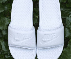 shoes, white, and slides image