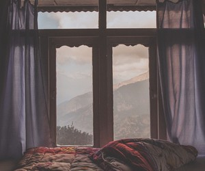 window and mountains image