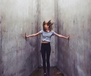 girl, hair, and wall image