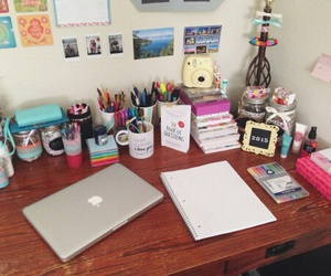 computer, notebook, and school image