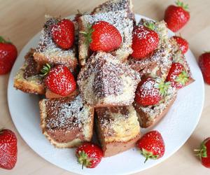 cake, strawberry, and dessert image