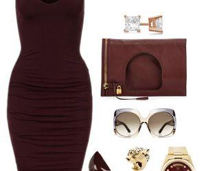 burgundy, girl, and Polyvore image