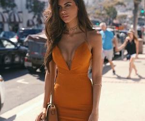 dress, style, and orange image