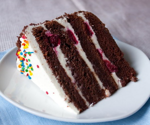 cake, cerry, and cooking image