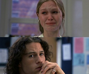 10 things i hate about you, heath ledger, and cry image