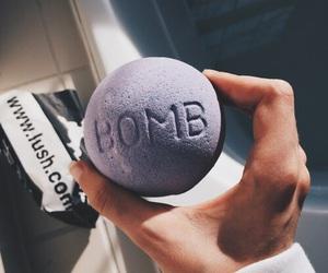 lush, bath bomb, and purple image