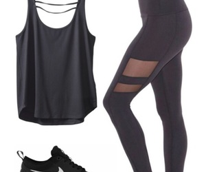 outfit, Polyvore, and workout image