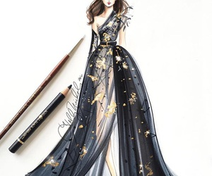 black, fashion, and drawing image