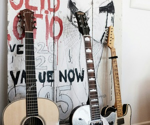 art, guitar, and music image