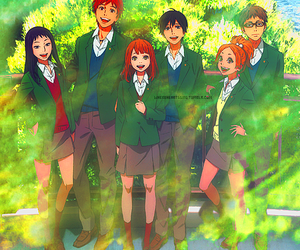 anime, gif, and orange image