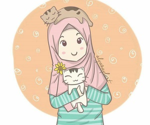 cat, cats, and girl image