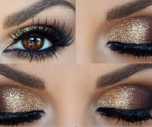 eye, eyeshadow, and girl image