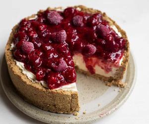 food, cake, and cheesecake image
