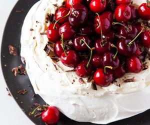 dessert, food, and cherry image