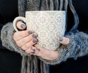 coffee, nails, and winter image