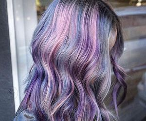 blue, beauty, and hair image