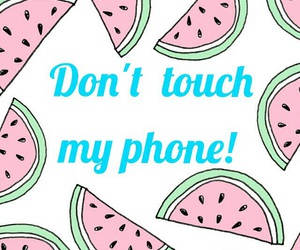 cellphone, watermelon, and cute image